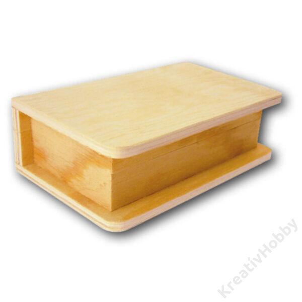 Fa könyvformájú doboz 11 x 7 x 3,5 mágneses záródással