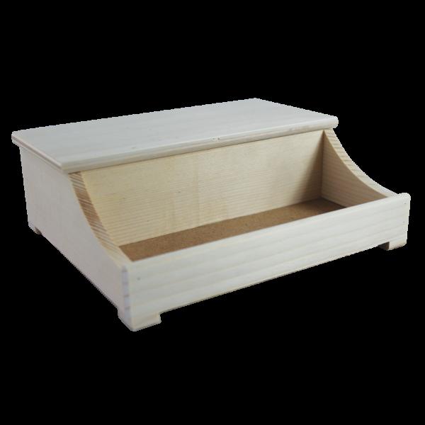 Zongora alakú doboz   21x18,5x8cm