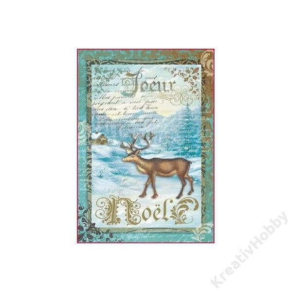 A4 rizspapír, csomagolt - X'MAS reindeer