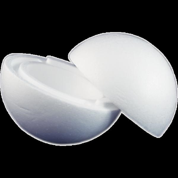 Polisztirol gömb 18 cm-es (két részes)