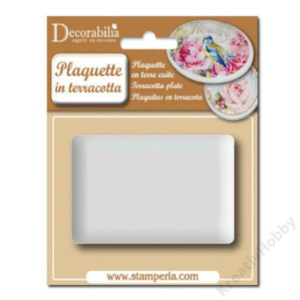 Plaquette rectangular big cm 10x6,5 h. - 1 pcs