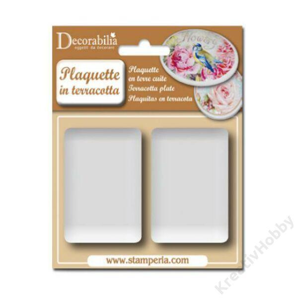 Plaquette rectangular medium cm 7,2x5h. - 2 pcs