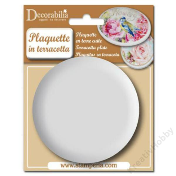 Plaquette round big diam cm 8 - 1 pcs