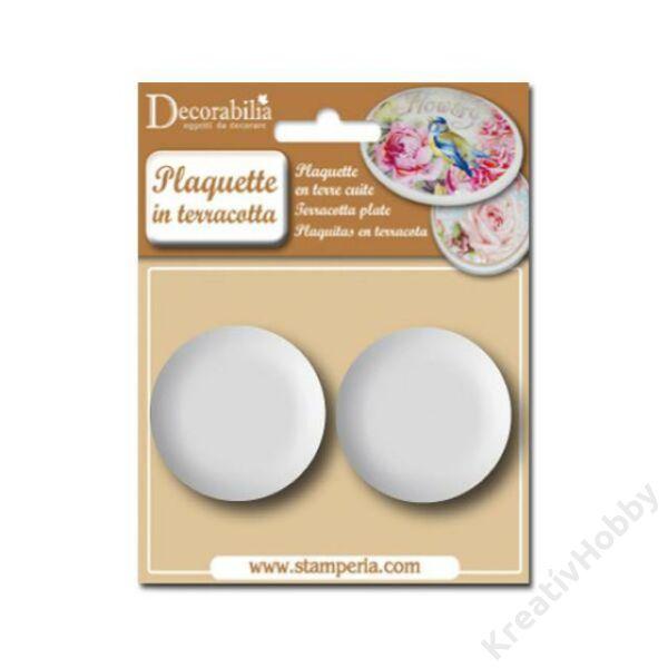 Plaquette round medium diam cm 5,3 - 2 pcs