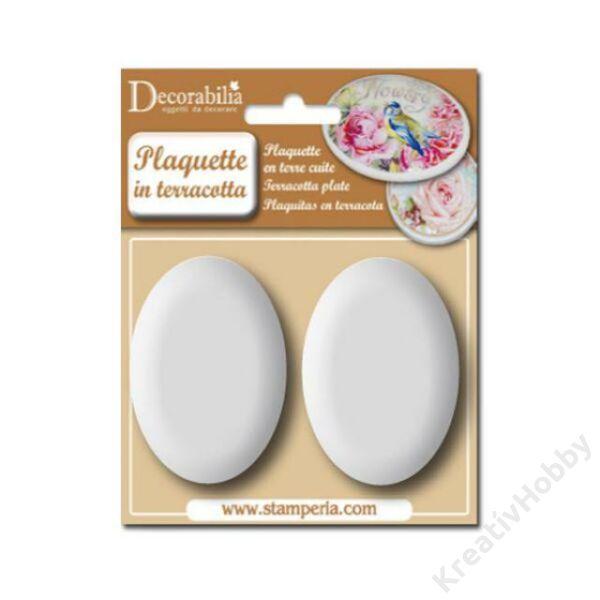 Plaquette oval medium cm 7,2x5 - 2 pcs