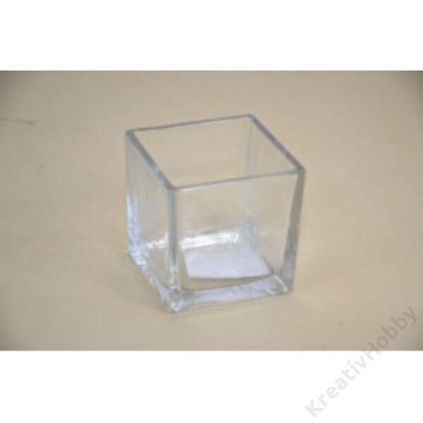 Váza kocka 7,5x7,5cm