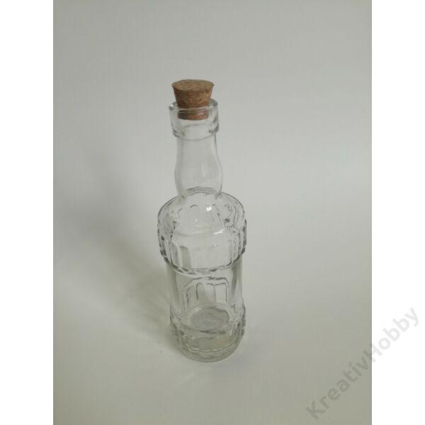 Pálinkás üveg parafadugóval, 140ml