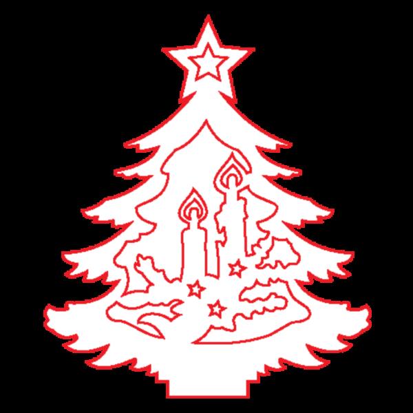 "Fa dekor figura ""Karácsonyfa IV."" 7*6cm"