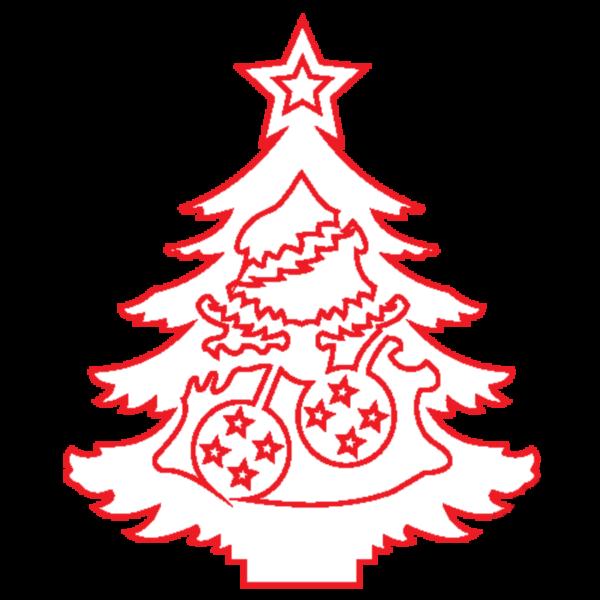 """Fa dekor figura """"Karácsonyfa III."""" 7*6cm"""