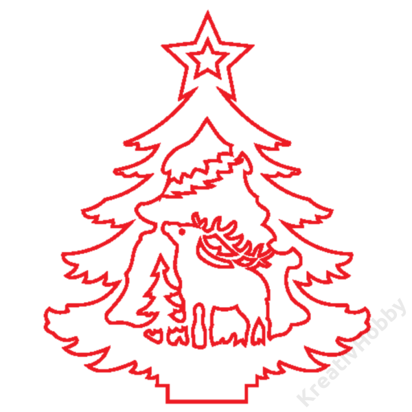 """Fa dekor figura """"Karácsonyfa VII. 7*6cm"""