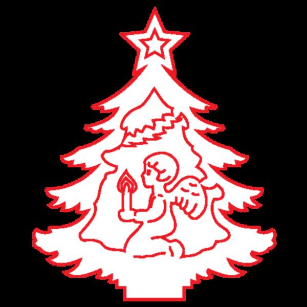 "Fa dekor figura ""KarácsonyfaV."" 7*6cm"