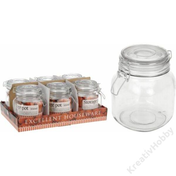 Patentzáras üveg szögletes 230ml