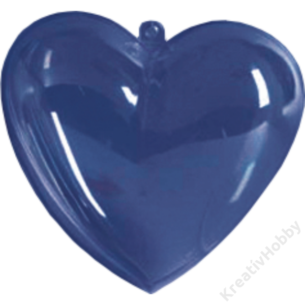 Átlátszó műanyag szív 10 cm-es