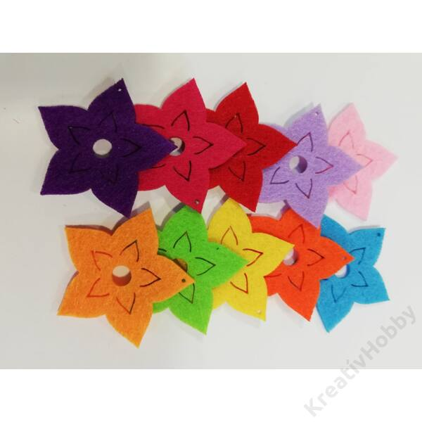Filcfigurák,csillagvirág kicsi 10db/cs 4x4cm