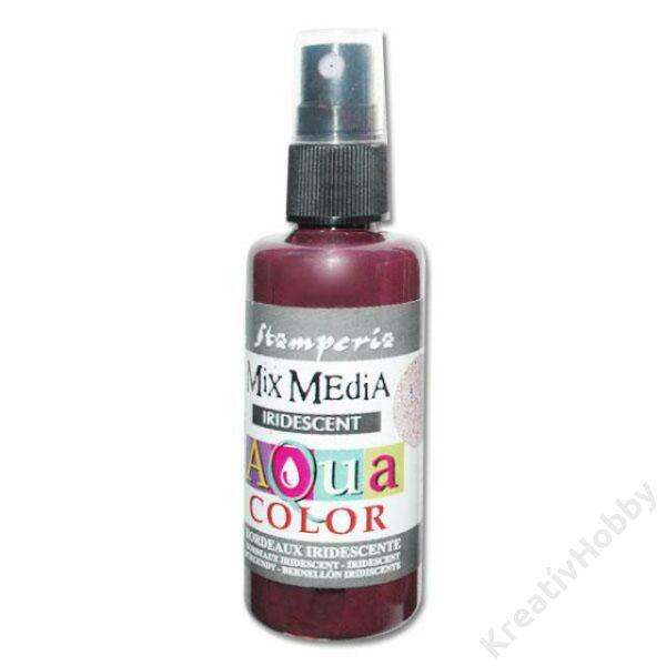 Aquacolor spray 60ml. - irizáló burgundy