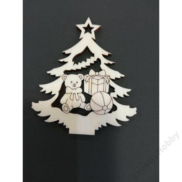 "Fa dekor figura ""Karácsonyfa VI."" 7*6cm"