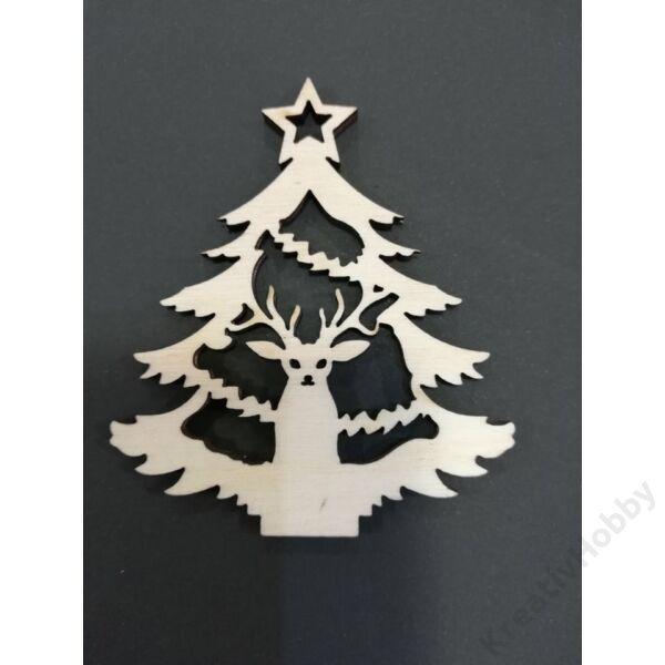 Fa dekor figura Karácsonyfa I. 7*6cm
