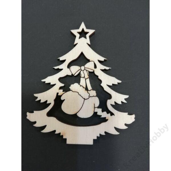 """Fa dekor figura """"Karácsonyfa II."""" 7*6cm"""
