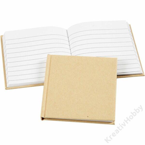 Notesz, fűzött, natúr 80 oldal, 10x10cm