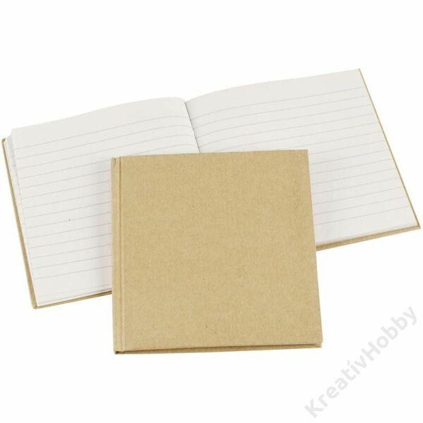 Papírmasé, notesz,fűzött, 80 oldalas 14x14cm