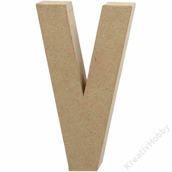 """Papírmasé betű, nagy """"V"""""""