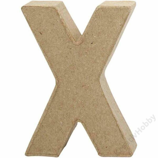 """Papírmasé betű, kicsi """"X"""""""