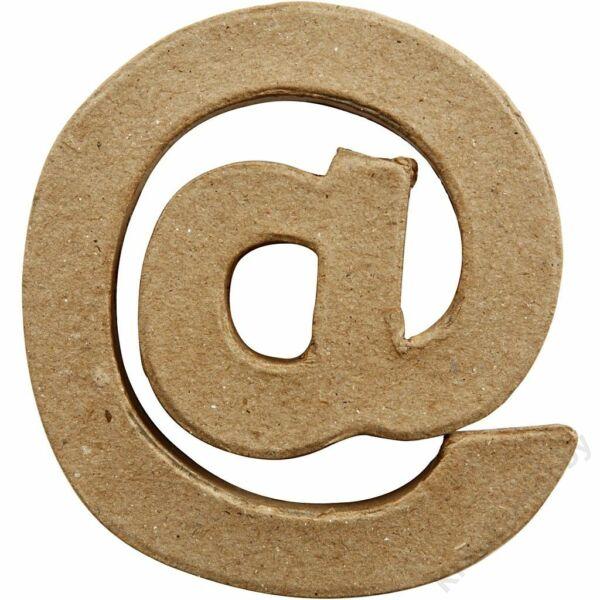 """Papírmasé betű, kicsi """"@"""""""