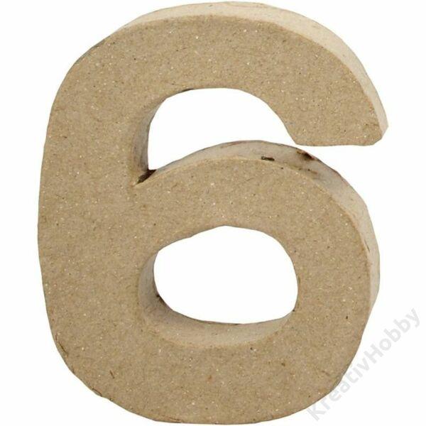 Papírmasé szám, kicsi