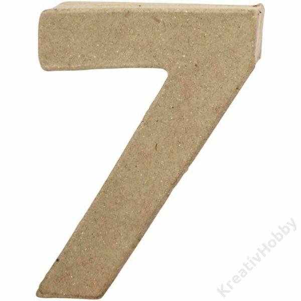"""Papírmasé szám, kicsi """"7"""""""
