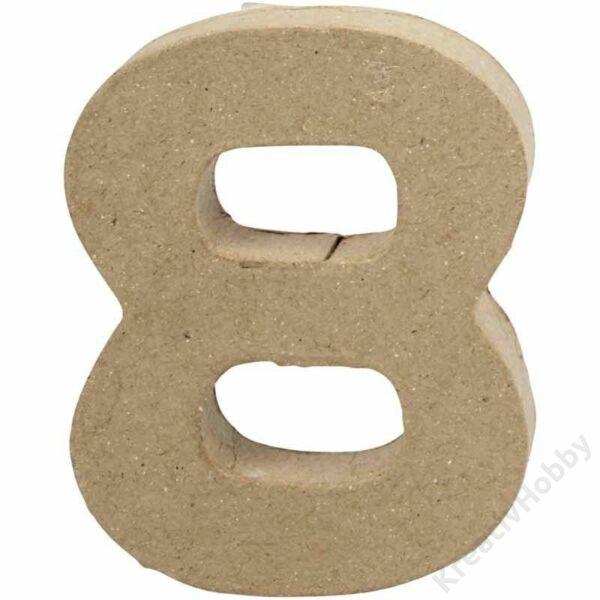 """Papírmasé szám, kicsi, """"8"""""""