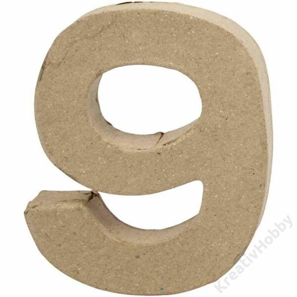 """Papírmasé szám, kicsi """"9"""""""
