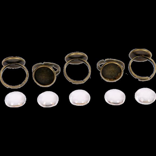 Fém gyűrűalap lencsével, 14 mm