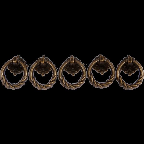 Fém fogantyú, kerek, 25x11 mm