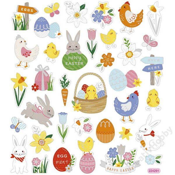 Húsvéti matrica,vegyes 36db/ív