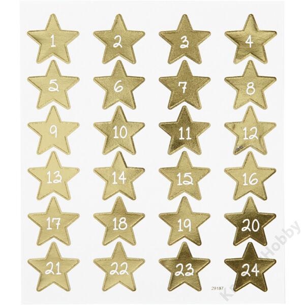Matrica,Adventi számok,csillagban