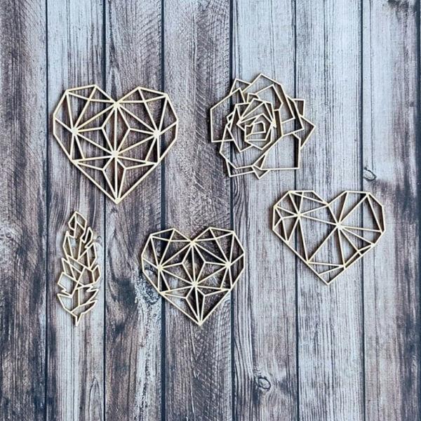 Chipboard - Geometrikus szívek