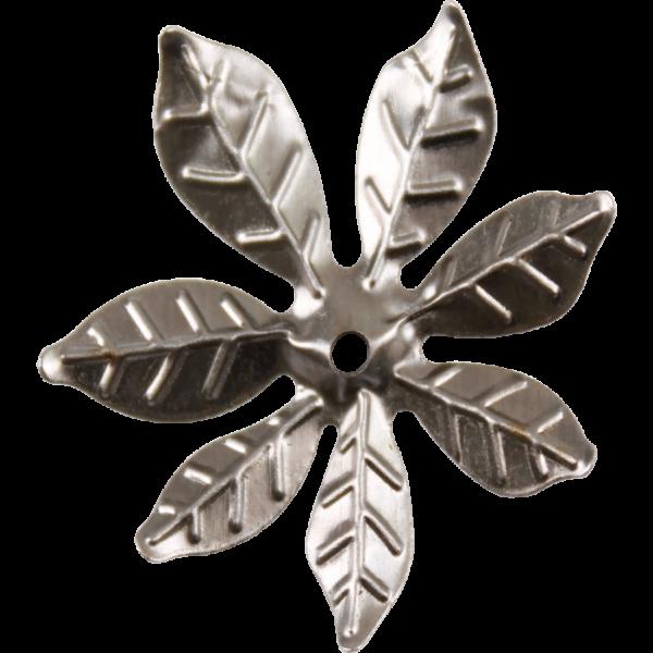Fém díszítőelem, virág 3 cm,