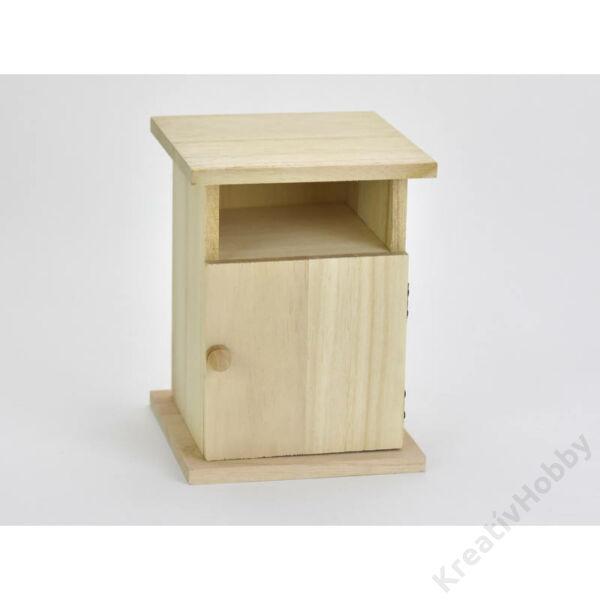 Natúr fa kis szekrény