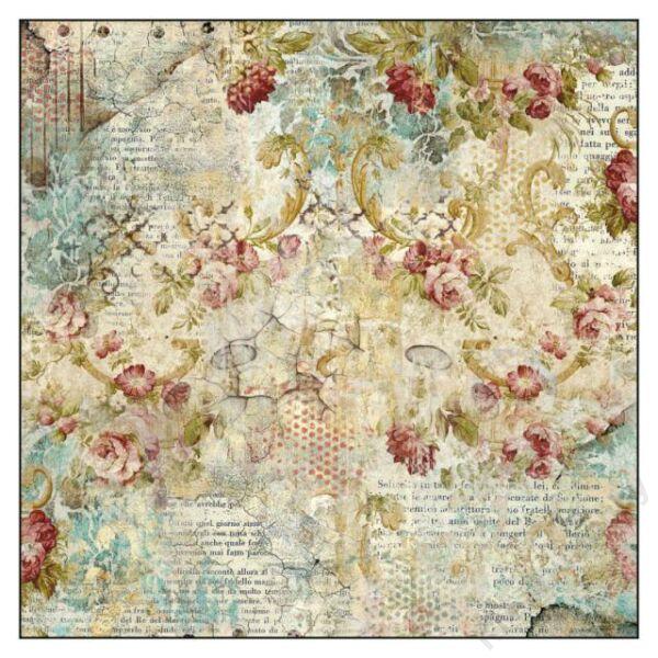 Rizspapír szalvéta, 50 x 50 cm csom. - Time is an Illusion Floral Texture