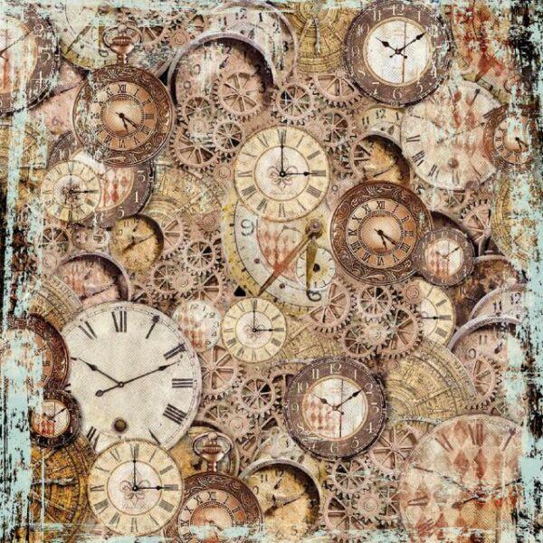 Rizspapír szalvéta, 50 x 50 cm csom.- Órák és óraszerkezetek