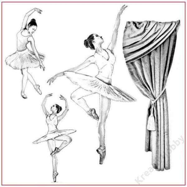Sziluett rizspapír szalvéta 50x50 cm - Ballerina