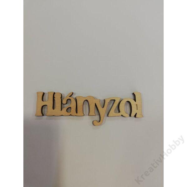 """HIÁNYZOL"" 9,7*2,8CM"