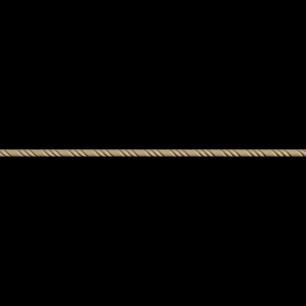 Hőre lágyuló fa MDM 0214 dupla csavart csík 1,4 x 100 cm