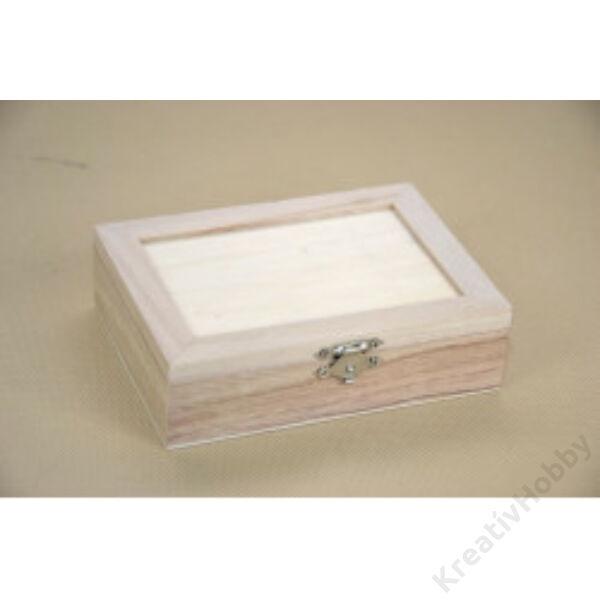 Peremes doboz, belül rekeszes 14x10x3,8cm