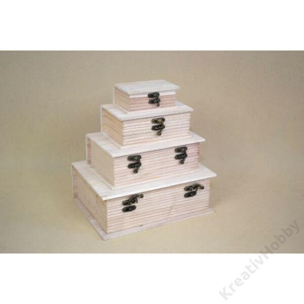 Fa doboz könyv alakú 6,5*12,5