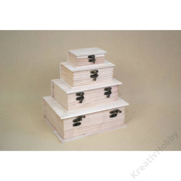Fa doboz könyv alakú 14*20