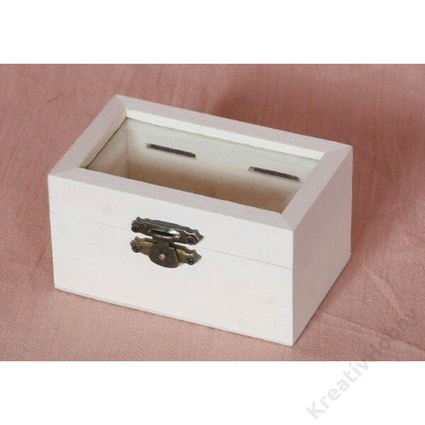 Mini dobozok, A. üvegbetétes