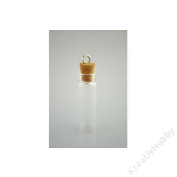 Üvegcse parafadugóval, akasztóval, 11*35mm