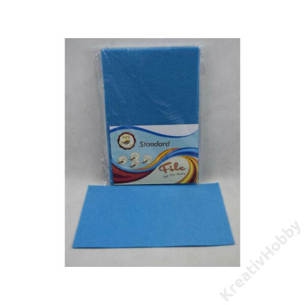 Filclapok, 2mm, 20x30 cm, kék
