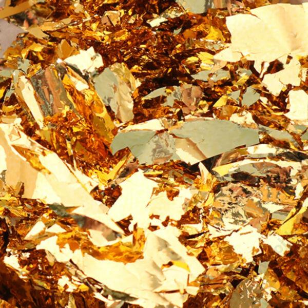 Színes fólia pehely 100 ml, barokkarany